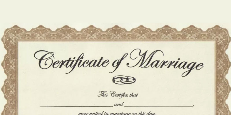 Buy marriage certificate online